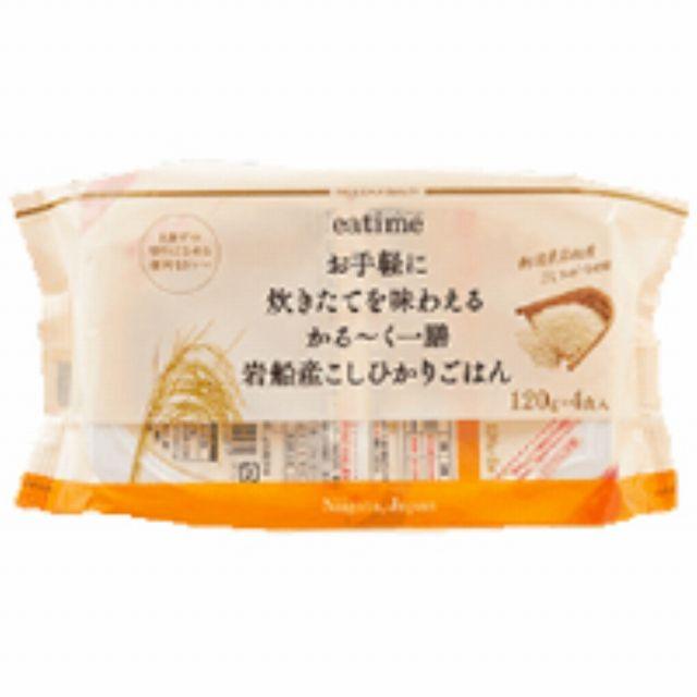 eatime お手軽に炊きたてを味わえるかる~く一膳岩船産こしひかりごはん(120g×2食×2個)